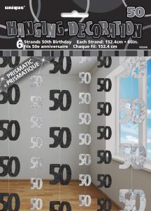 Hängande Dekoration 50 svart