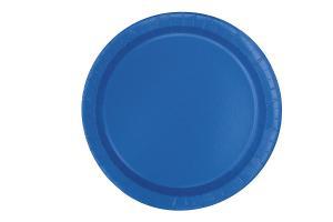 kunglig blå tårttallrikar