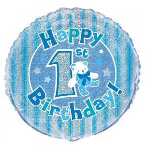 Happy 1st Birthday folieballong nalle