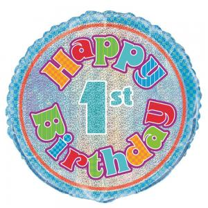 1st birthday folieballong prisma