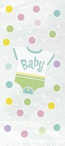 Presentpåsar i babyshower motiv grön