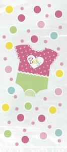 Presentpåsar i babyshower motiv rosa