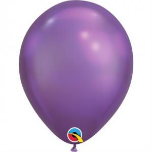 Latexballong Chrome Lila