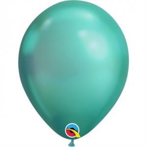 Latexballong Chrome Grön
