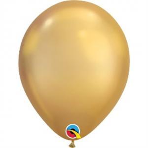 Latexballong Chrome Guld