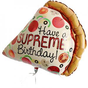supreme pizza happy birthday