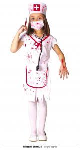 Barndräkt Zombie Sjuksköterska 5-6år