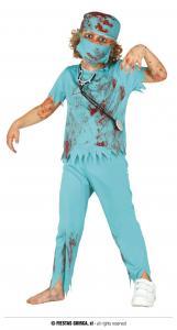 Barndräkt Zombie Doktor 7-9år