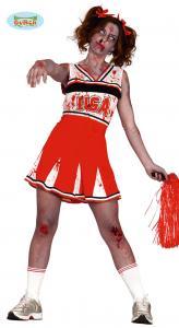 Cheerleader zombie dräkt vuxna L 42-44