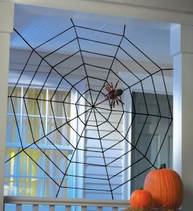 Gigantisk spindelnät dekoration