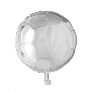 Cirkel folieballong Silver