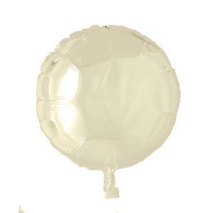 Cirkel folieballong Elfenben