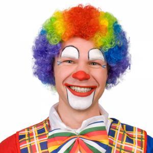 Clown Röd Lockig Peruk
