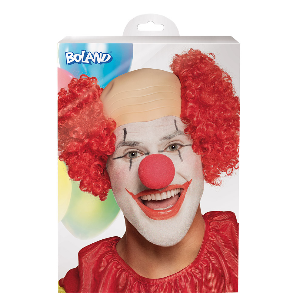 Clown Röd Flint Peruk