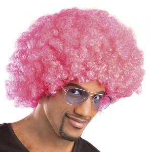Afro peruk hot pink