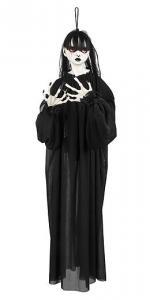 Läskig Flicka i svart klädnad