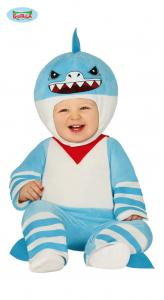 Baby shark dräkt för barn 12-24 månader