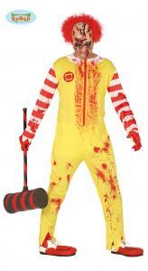 Burger clown zombie dräkt  L 52 54