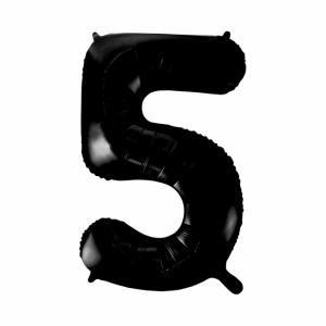 Stor siffer ballong svart 5