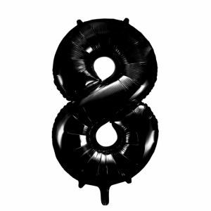 Stor siffer ballong svart 8