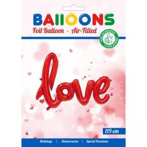 "Folieballong ""Love"" Röd"