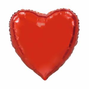 Folie ballong hjärta Röd