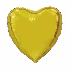 Folie ballong hjärta guld