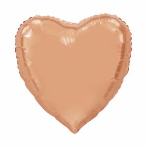 Folie ballong hjärta Rosé guld