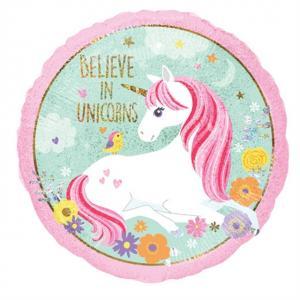 """""""Believe in Unicorns"""" Heliumballong"""