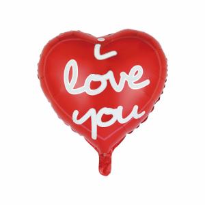 """""""I love you"""" hjärt folie ballong"""