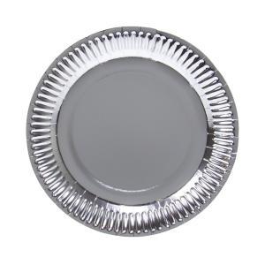 Papperstallrik silver 10-pack