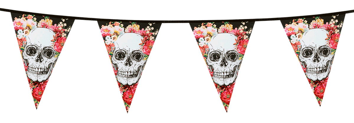 Vimpel girlang Day of the dead 6m