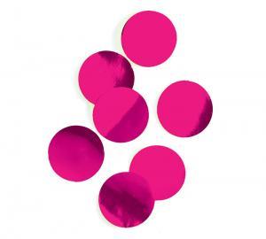 Cerise rosa konfetti stora runda flingor