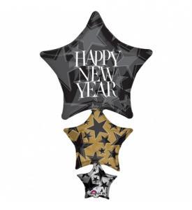 Folieballong Nyårs stjärna