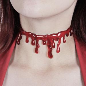 Halsband till halloween skräck blod Tjock