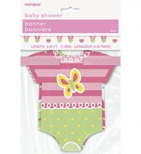 Babyshower Girlang kläder rosa