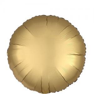 Cirkel chromé folieballong guld