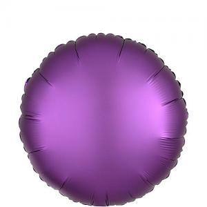 Cirkel chromé folieballong lila
