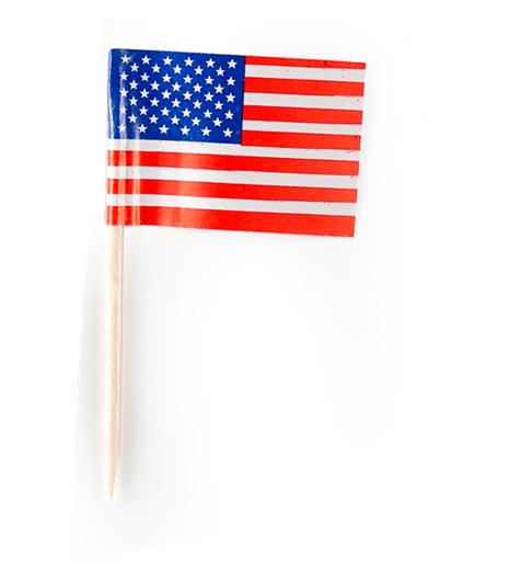 tandpetare usa flagga