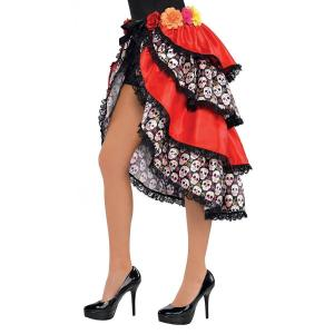 Day of the dead tie-on bustle