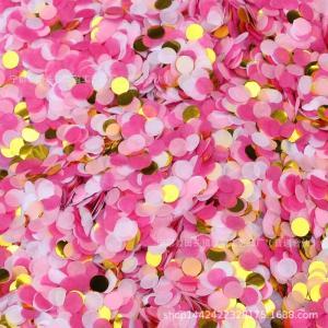 konfetti rosa och guld