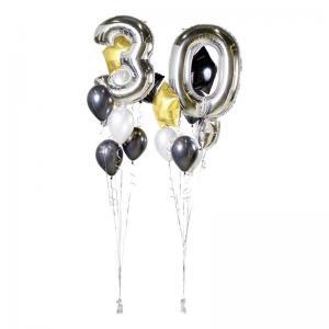 ballong mega kit silver