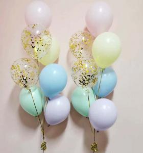 pastellkonfetti 7st latexballonger