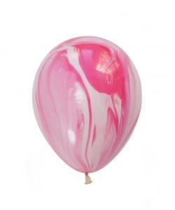 Latexballong marmorerad Rosa
