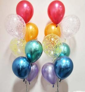 Chromékonfetti 7st latexballonger 11