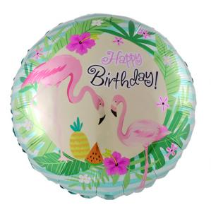 Flamingo folieballong happy birthday