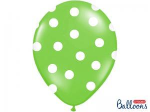 Latexballonger Limegrön Prickig 30cm
