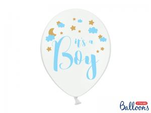 """Latexballonger Vit med text """"It`s a Boy""""  30cm"""