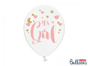 """Latexballonger Vit med text """"It`s a Girl""""  30cm"""