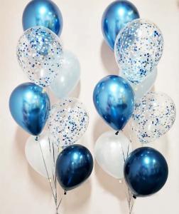 Chromékonfetti 7st latexballonger 1